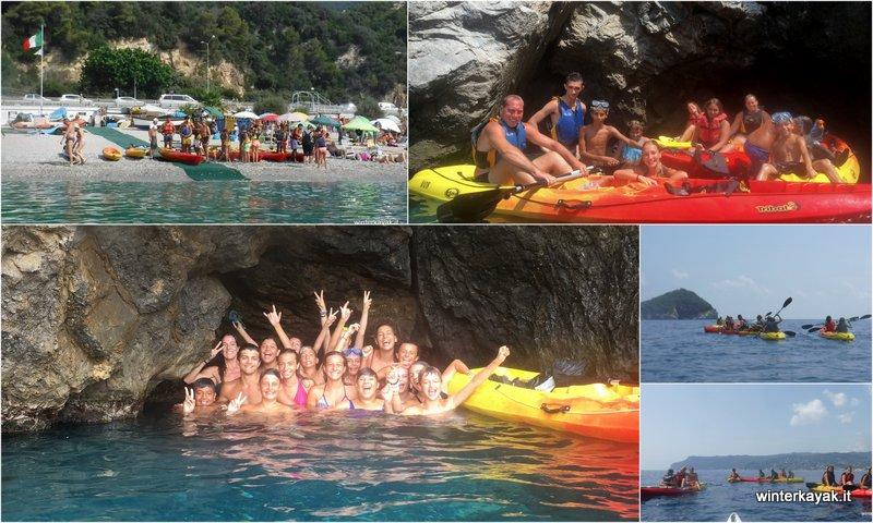 09082018 in canoa all'Isola di Bergeggi con i ragazzi del Campo Solare