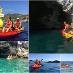 Escursione in kayak a Bergeggi (Liguria) del 16 Agosto 2017