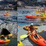 Corso introduttivo al kayak per bambini, Bagni Stella Maris (Bergeggi – Liguria), del 18 luglio 2015 Introductory course for children of july, 18, 2015 at Bagni Stella Maris (Bergeggi – Liguria – Italy)