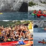 Escursione in canoa  a Bergeggi del 31 agosto 2017 con gli amici della Decathlon di Piacenza