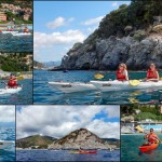 Escursione in Kayak a Bergeggi (Liguria) del 17 agosto 2015 – Circa 4 Km. Kayak excursion in Bergeggi (Liguria) of August, 17,  2015 – About 4 Km.
