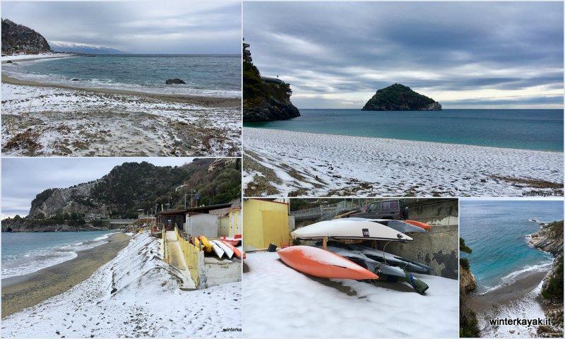 Neve a Bergeggi e in Liguria