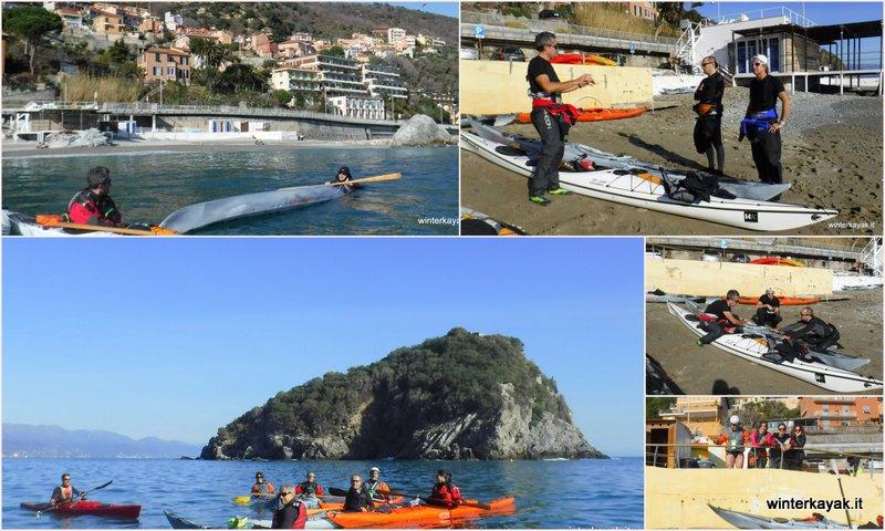 corsi di kayak da mare estivi e invernali a bergeggi