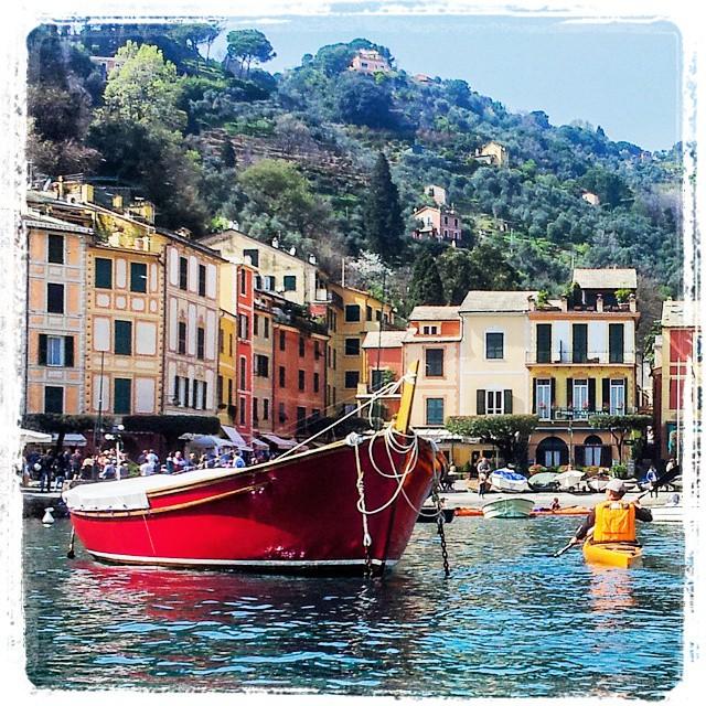 Beautiful stretch of Portofino (italy)! #kayak #fun