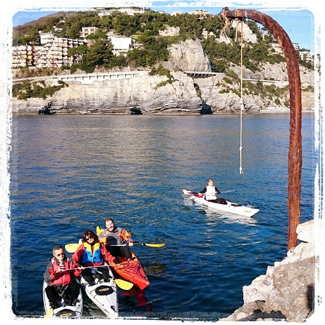 Today, the island of Bergeggi (italy)  with our friends ;-) #kayak #fun