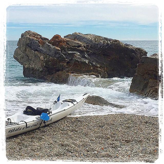 Lunch break away among the rocks:-)! #kayak #nature #fun