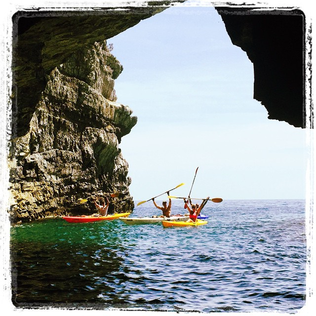 Happy in the cave! :-) #kayak #nature #happiness