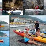 Escursione in Kayak a Bergeggi (Liguria) del 2 Giugno 2015 – Circa 8 Km. Kayak excursion in Bergeggi (Liguria) of June, 2,  2015 – About 8 Km.