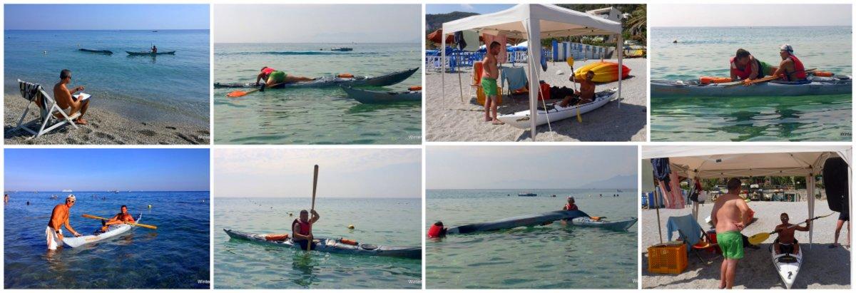Continuano i corsi di canoa e kayak da mare....