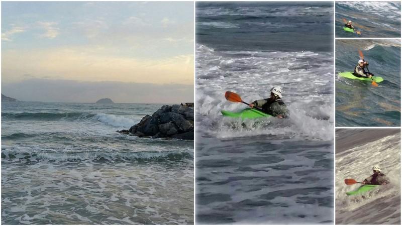 Laigueglia surf in kayak