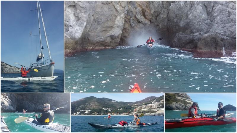 Escursione in kayak  all'Isola di  Bergeggi