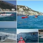Escursione in kayak a Bergeggi e Spotorno (Liguria) del 24 Marzo 2016– Circa 10 Km.