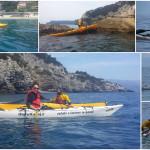 Esercizi di conduzione del kayak da mare a Bergeggi del 20 Aprile 2016 Kayak training in Bergeggi (Liguria) of April, 20, 2016