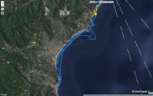 traccia_gps_escursione_kayak_liguria