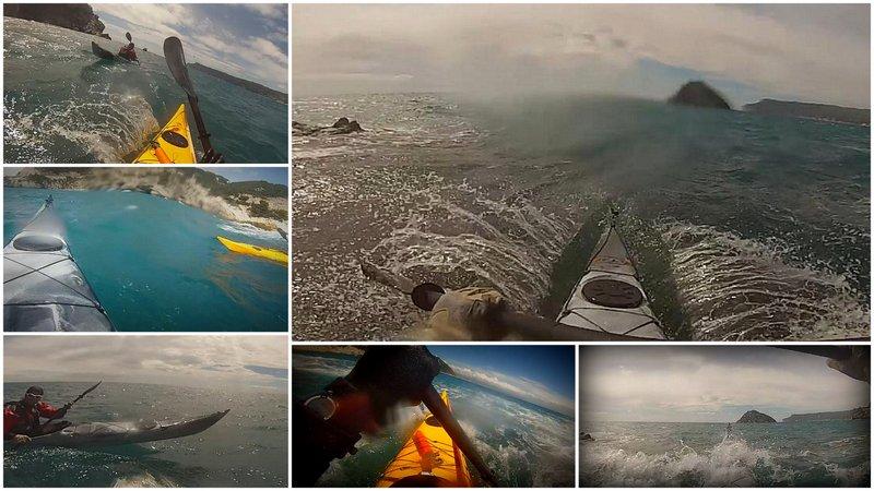 Surf in kayak all'Isola di Bergeggi