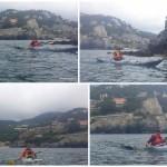Escursione in kayak a Bergeggi (Liguria) del 11 Giugno 2016 – Circa 5 Km.