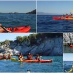 Escursione in kayak a Bergeggi (Liguria) del 25 Agosto 2016 – Circa 3 Km.
