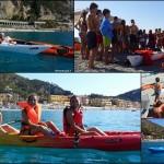 Giornata di attività nautica in canoa con il Gruppo Scout di Ovada (Alessandria – Italia), 1 Agosto 2016 – Day of boating activity in kayak with the Scout Group of Ovada