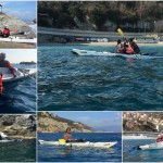Corso di kayak da mare Sotter Advanced a Bergeggi del 18 Febbraio 2017. Sotter Advanced Sea-Kayak training in  Bergeggi (Liguria) of February, 18, 2017