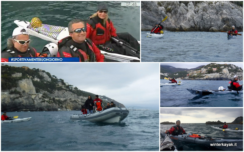 isola di bergeggi intervista winterkayak su rai 3