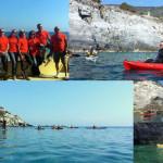 Escursione guidata in canoa all'Isola di Bergeggi del 9 Aprile 2017 – Kayak excursion in Bergeggi (Liguria) of April, 09, 2017