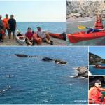 Doppia escursione in kayak del 30 aprile 2017 nell'Area Marina Protetta dell'Isola di Bergeggi (Liguria)