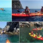Doppia escursione a Bergeggi del 28 Maggio 2017 Double kayak excursion in Bergeggi (Liguria) of May, 28, 2017