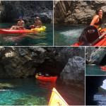 Escursione in kayak a Bergeggi del 08 luglio 2017