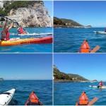Escursioni a Varigotti (Liguria) del 2 luglio 2017:  – Canoe excursion in Varigotti of 2017, july, 02