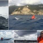 Surf in kayak a Bergeggi (Liguria) del 09 settembre 2017