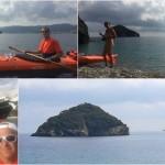 Bergeggi, 18 ottobre 2017 – Pagaiata in kayak intorno al brigantino Nave Italia