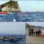 Escursione promozionale in kayak all'Isola di Bergeggi e Spotorno del 29 ottobre 2017 – Circa 8 Km.