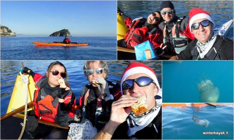 bergeggi e spotorno in kayak a dicembre in inverno