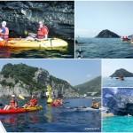 Escursione in canoa a Bergeggi (Liguria) del 17 Giugno 2018.
