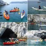 gruppo scout isola di bergeggi in canoa