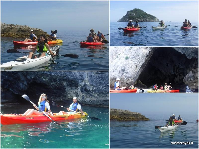 isola di bergeggi in canoa