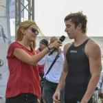 Giuditta Arecco, voce di RDS, intervista un atleta. Foto di Fabio Grosso