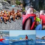 Escursione in Kayak a Bergeggi (Liguria) del 5 Agosto 2015 – Circa 5 Km. Giochi in kayak per bambini ai Bagni Stella Maris di Bergeggi Kayak excursion Bergeggi (Liguria) of August, 05,  2015 – About 5 Km. Kayak water games for children at Bagni Stella Maris (Bergeggi)