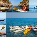 Escursione in Kayak a Bergeggi (Liguria) del 7 agosto 2015 – Circa 3 Km.  Kayak excursion in Bergeggi (Liguria) of August, 07,  2015 – About 3 Km.