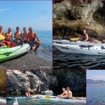 Escursioni in Kayak a Bergeggi (Liguria) del 16 Luglio 2015 – Circa 4 Km. Kayak excursion in Bergeggi (Liguria) of July, 16,  2015 – About 4 Km.