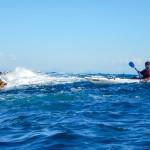 mareggiata a punta predani. bergeggi, liguria, escursioni in kayak, kayak excursions, cayaking, canoeing