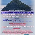 Cimento invernale del 15 febbraio a Bergeggi (Liguria) presso i Bagni Stella Maris