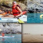 Escursione in Kayak a Bergeggi (Liguria) del 29 Giugno 2015 – Circa 3 Km. Kayak excursion in Bergeggi (Liguria) of June, 22,  2015 – About 3 Km.