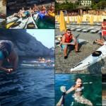 Escursione in Kayak a Bergeggi (Liguria) del 7 Giugno 2015 – Circa 5 Km. Kayak excursion in Bergeggi (Liguria) of June, 7,  2015 – About 5 Km.
