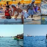 Escursione in Kayak a Bergeggi (Liguria) del 12 agosto 2015 – Circa 5 Km.  Kayak excursion in Bergeggi (Liguria) of August, 07,  2015 – About 3 Km.