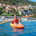 Escursione in Kayak a Bergeggi (Liguria) del 26 Agosto 2015 – Circa 4 km Kayak excursion Bergeggi (Liguria) of August, 26,  2015 – About 4 Km.