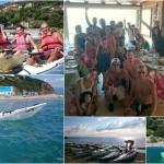 Escursione del 08 settembre 2015 con gli amici della Decathlon di Cinisello Balsamo (MI) – Kayak excursion in Bergeggi (Liguria) of September, 08,  2015 with Decathlon's friends from Cinisello Balsamo (Milan, Italy)