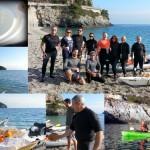 """Brind The Island"" a Bergeggi (Liguria) del 27 Dicembre 2015 – Circa 17 Km. Kayak excursion in Bergeggi (Liguria) of December, 27,  2015 – About 17 Km."