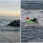 31 gennaio, giornata di surf in kayak a Laigueglia – Surfing Kayak in Laigueglia (Liguria) of January, 31,  2016