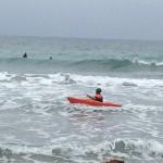 Laigueglia, surf in kayak